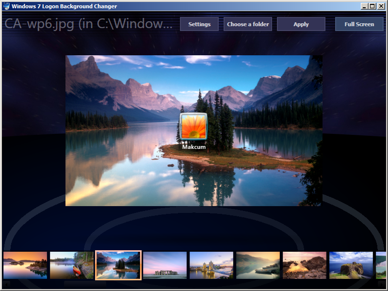Windows 7 Logon Background Changer Terbaru