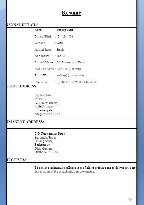 Waiter resume examples