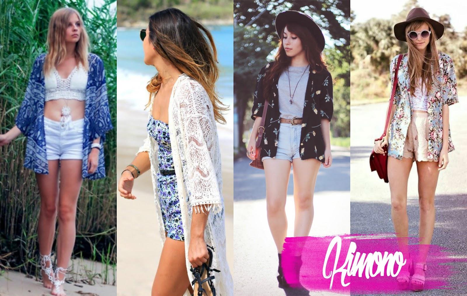 Kimono para usar no Verão