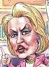 Matt Wuerker: Hillary Clinton, lies.