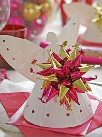 Ngel de navidad con plato descartable manualidades faciles paso a paso - Manualidades de navidad paso a paso ...
