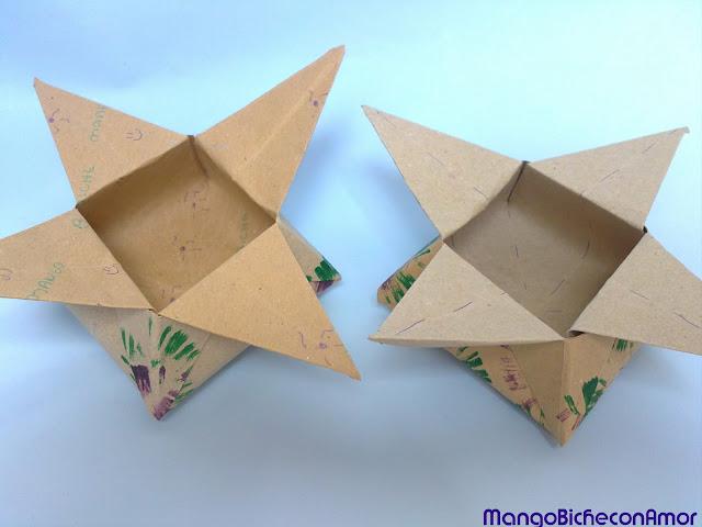 origami caja estrella