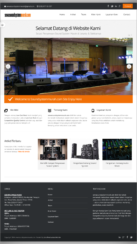 Website UKM Penyewaan Sound System