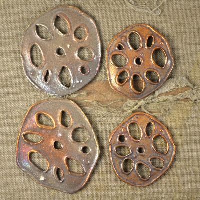 handmade copper and bronze lotus root kristi bowman design