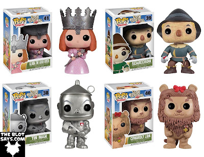 The Wizard of Oz Pop! Movies Wave 2 Vinyl Figures by Funko - Glinda the Good Witch, Scarecrow, Tin Man & Cowardly Lion