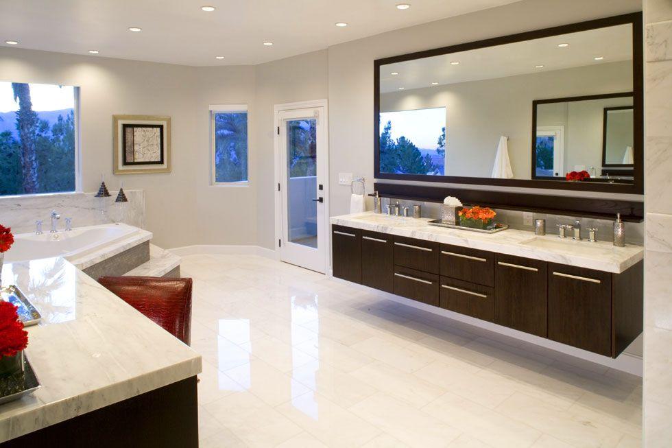 decoracao moderna Mestre banho Interior Design de Idéias