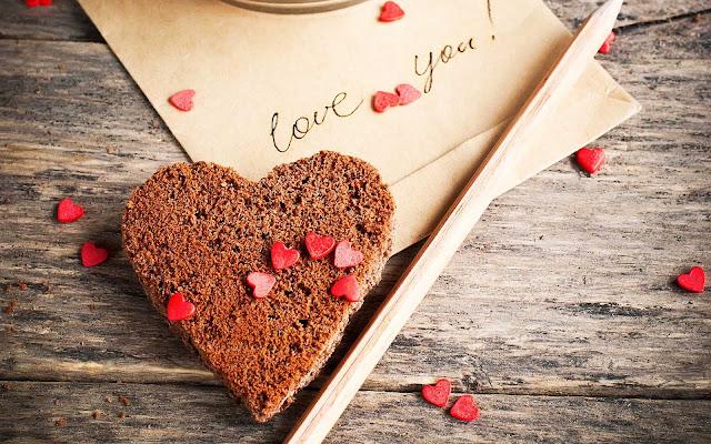 Wallpaper van een liefdes hartje van koek