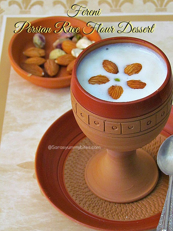 Fereni  Persian Rice Flour Dessert