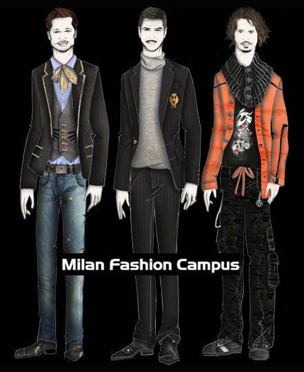 desenho de moda croquis masculinos milan fashion campus