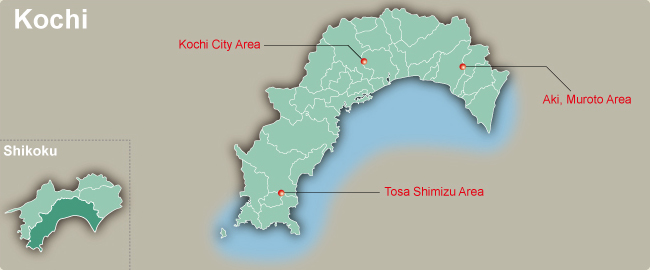 Kochi Japan  city pictures gallery : Kochi Map of Japan Region | Regional City Maps of Japan