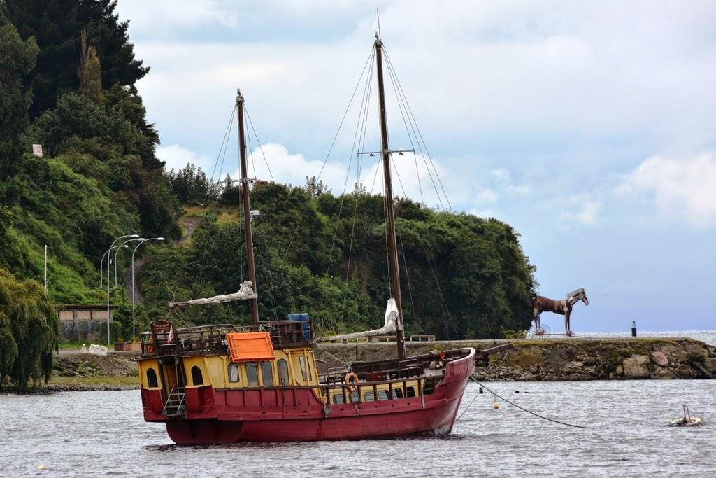 Puerto Varas old vintage boat