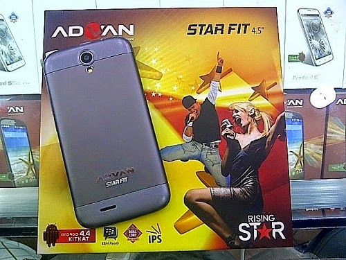 Harga HP Advan Star Fit S45A, Spesifikasi IPS LCD dan Android KitKat