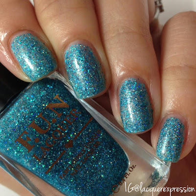 swatch of dreamer nail polish by f.u.n. lacquer