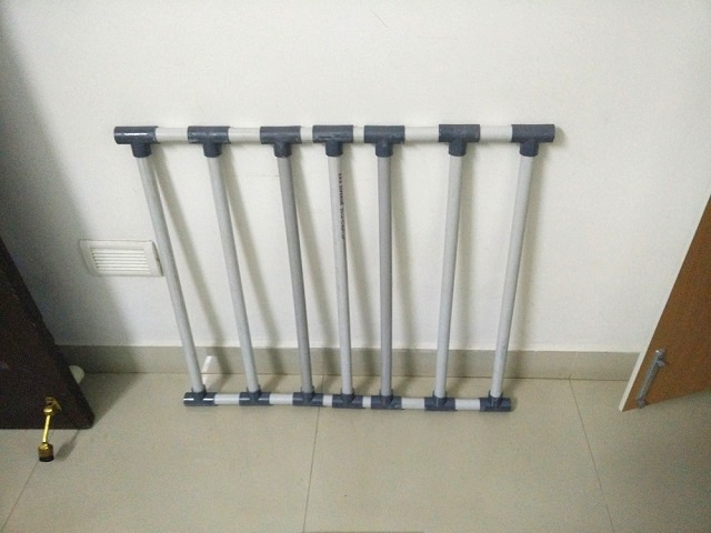 Using PVC cement solution