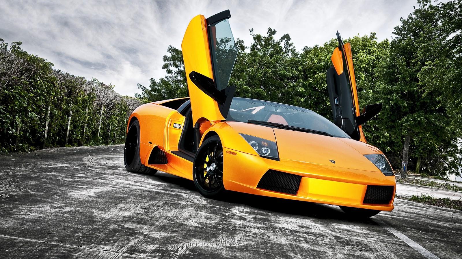 Stylish Yellow Lamborghini Car Wallpaper