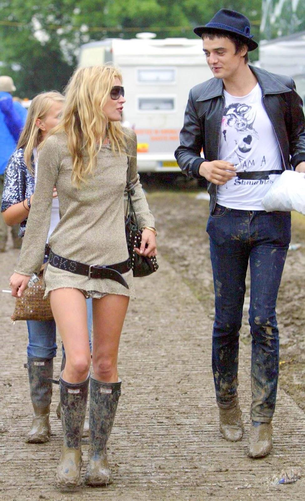 Celebrity wearing Hunter wellies