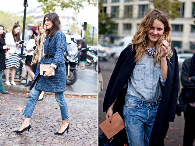 denim on denim double trends ripped jeans looks inspiration streetstyle