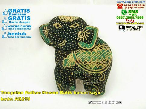 Tempelan Kulkas Hewan Batik Bahan Kayu