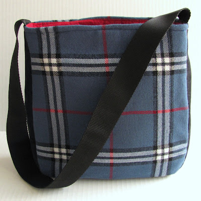 Don't Be Blue Trendy Plaid Handbag