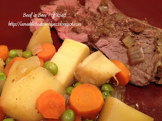 Made in the slow cooker, this beer pot roast is delicious!