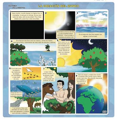 Ebi paraguay historia en cuadritos la creaci n del mundo for En 7 dias dios creo el mundo