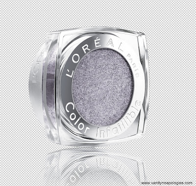 L'Oreal infallible flashback silver eyeshadow
