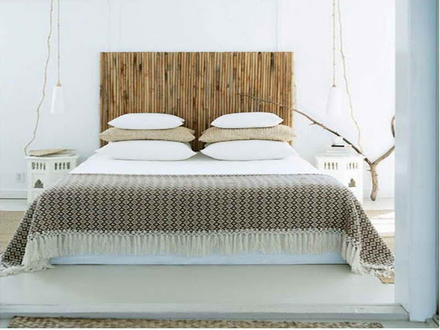 Bamboo Lamp Headboard