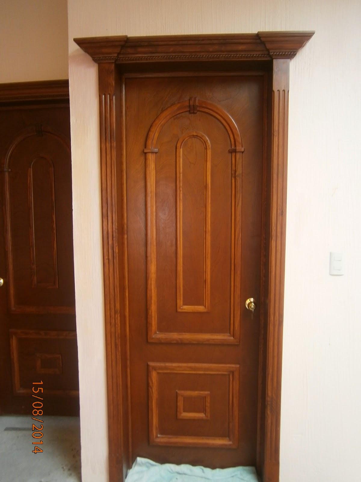 Masterpiece ebanisteria puertas for Puertas de frente de madera modernas