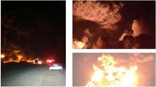 """بالصور والفيديو / 50 صورة و 15 مقطع فيديو لتغطية حريق الاطارات في منطقة """" رحيه """" 16-4-2012"""