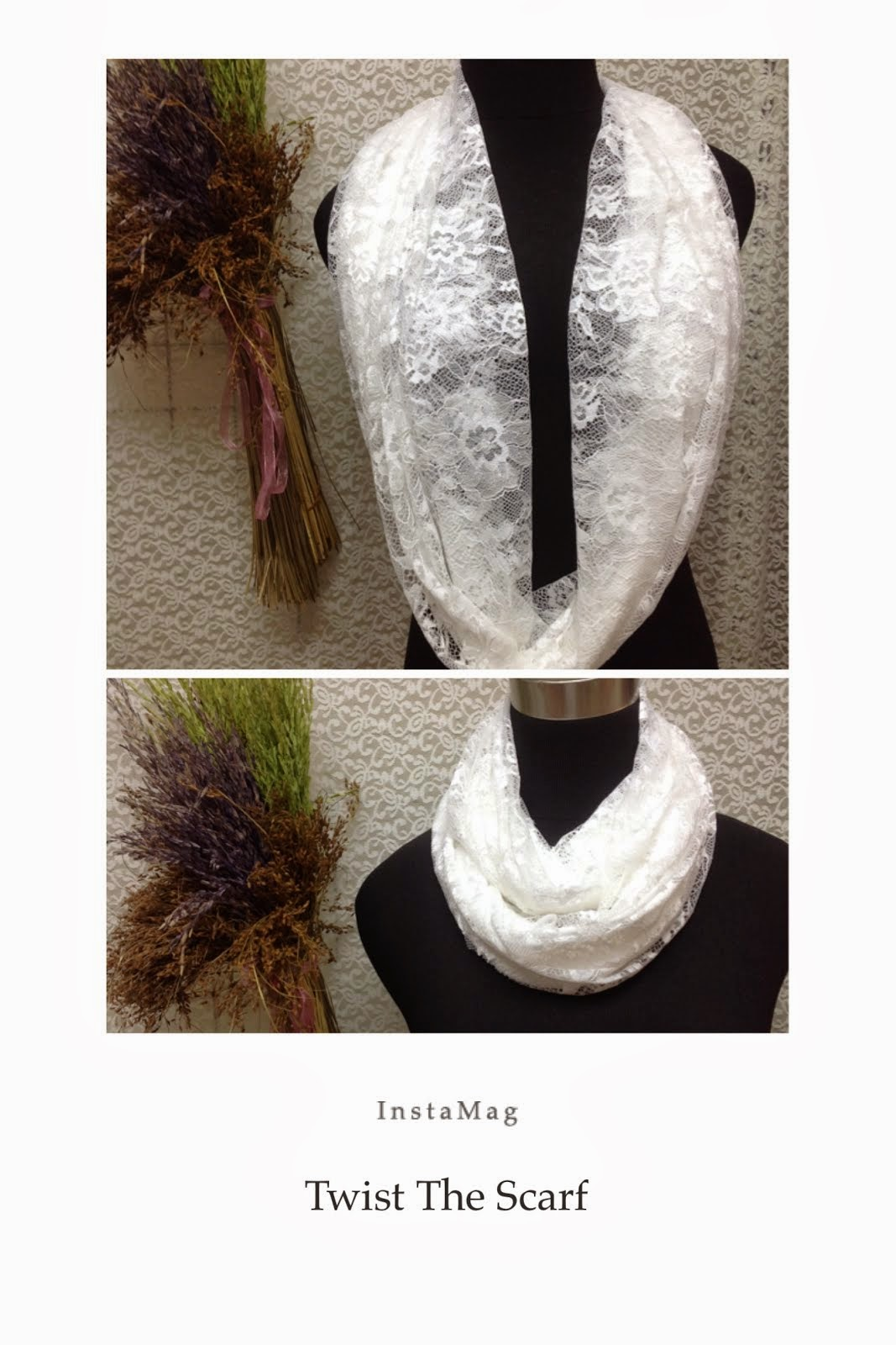 Twist The Wedding Lace Scarf