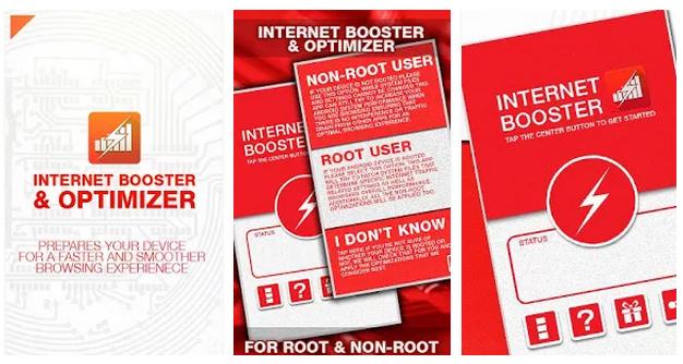 تطبيق مجاني لتسريع وتحسين الأنترنت علي أندرويد Internet Booster & Optimizer 1.3 APK