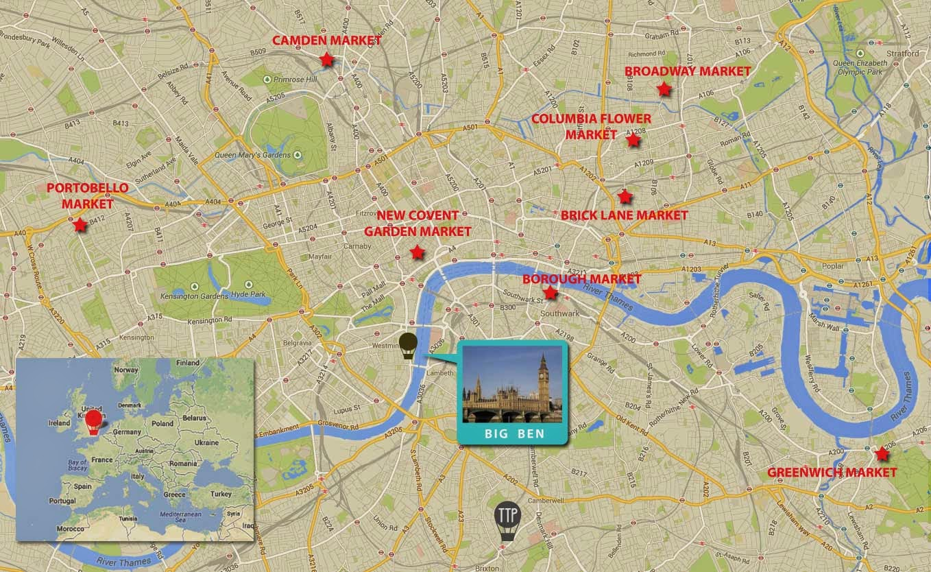 photo printable map of london attractions images photos