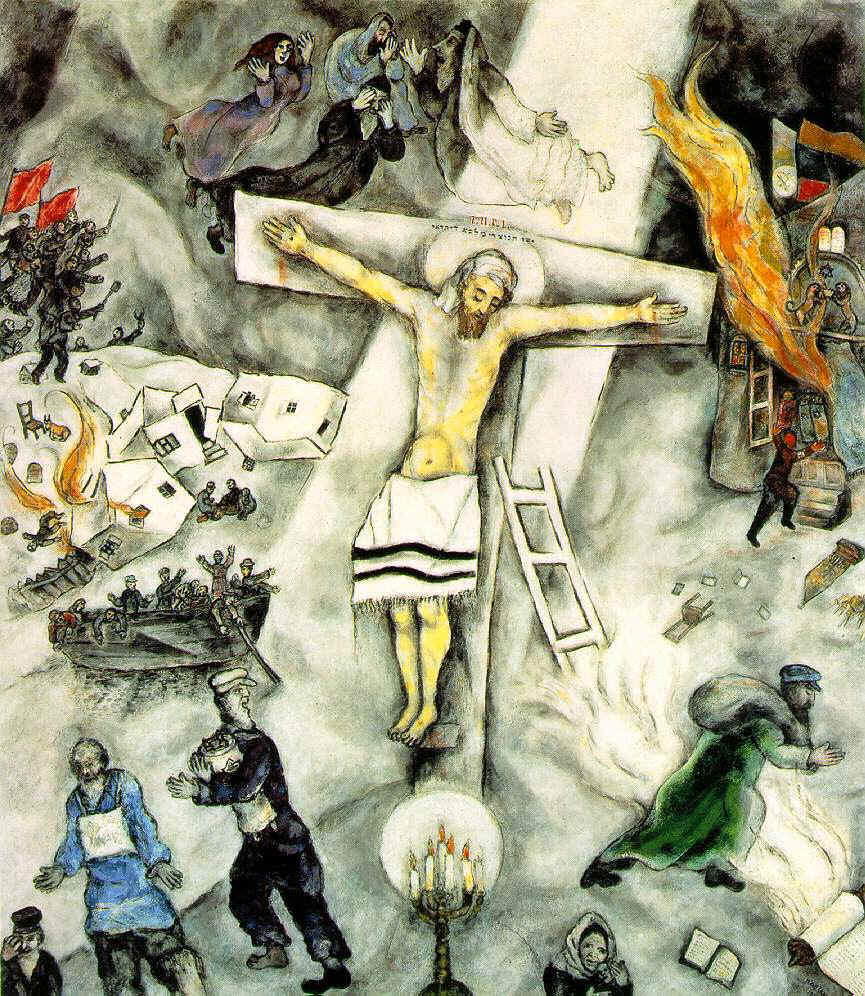 Aliciosa Chagall White Crucifixion