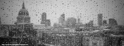 Couverture facebook avec pluie