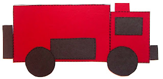 fire truck printable pattern