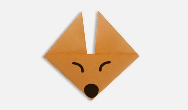 Origami Tutorials - How to make a paper Fox's face