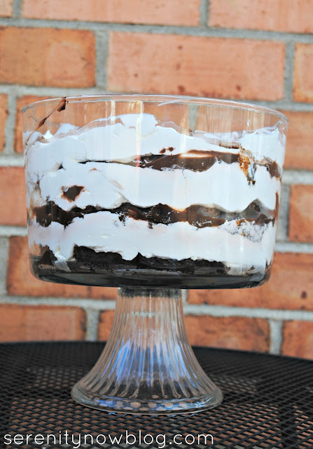 Chocolate Brownie Trifle Recipe (Make Ahead!) from Serenity Now
