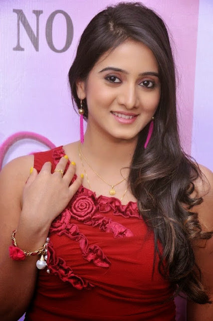 Harshika Pooncha Photo Gallery In Red Dress