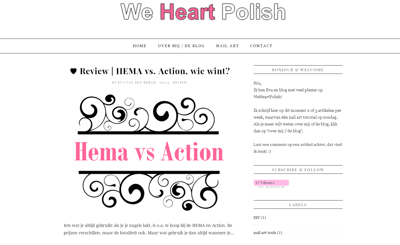 Nieuwe lay-out van we heart polish