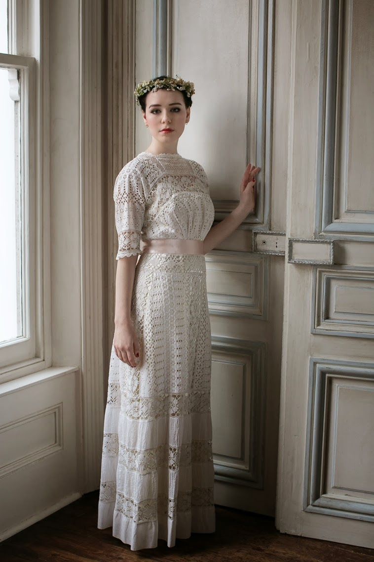 Edwardian wedding dresses c Heavenly Vintage Wedding Blog 2014