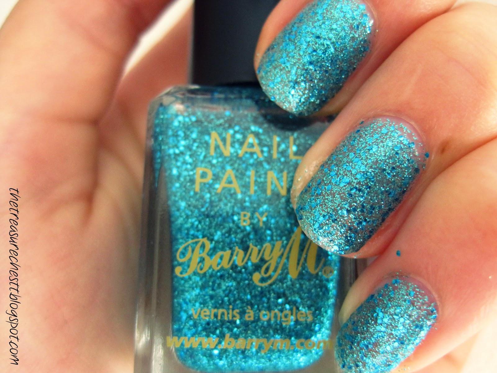 Monday Blues Barrym Aqua Glitter
