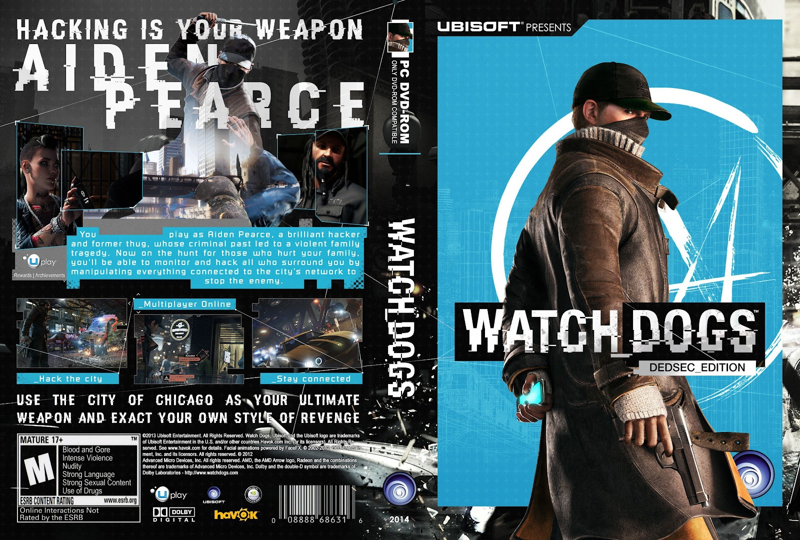 Capa Watch Dogs Dedsec Edition PC
