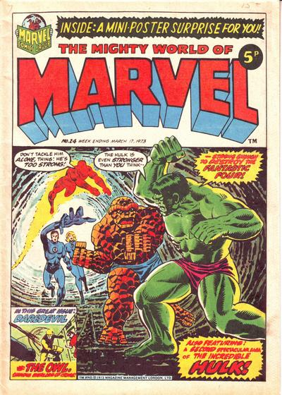 Mighty World of Marvel #24, Jim Starlin cover