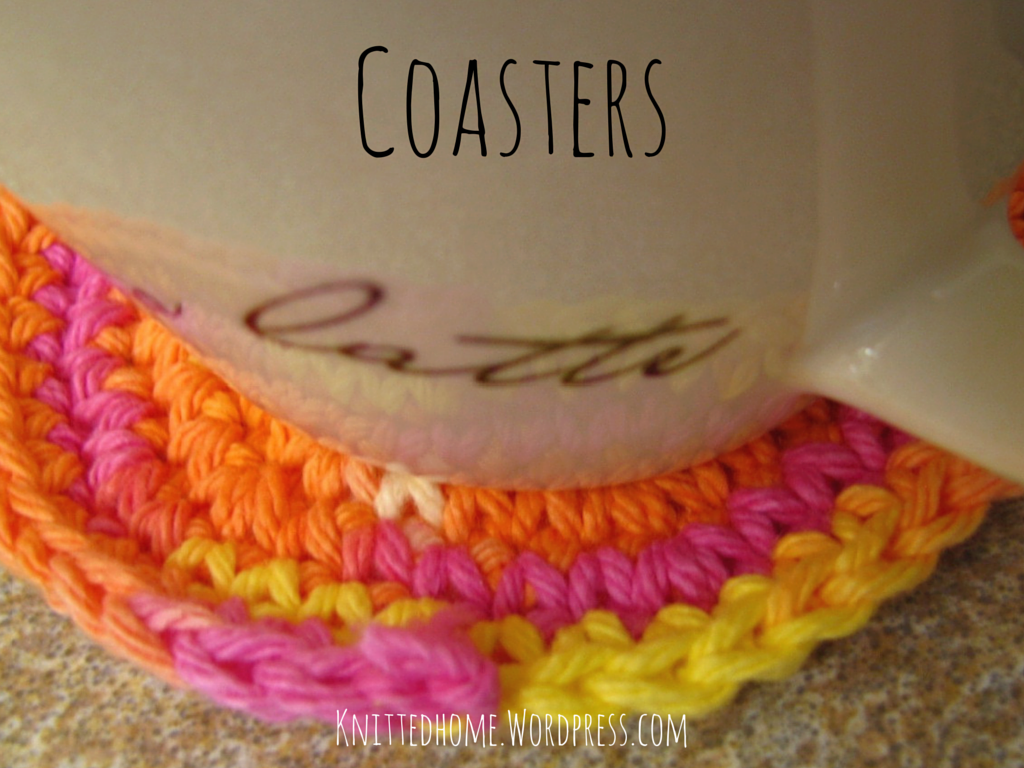 Pink Coasters  |  knittedhome.etsy.com