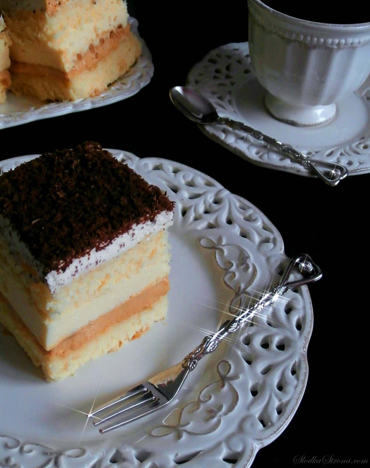 """Ciasto """"3 Bit"""" na Biszkopcie - Przepis - Słodka Strona"""