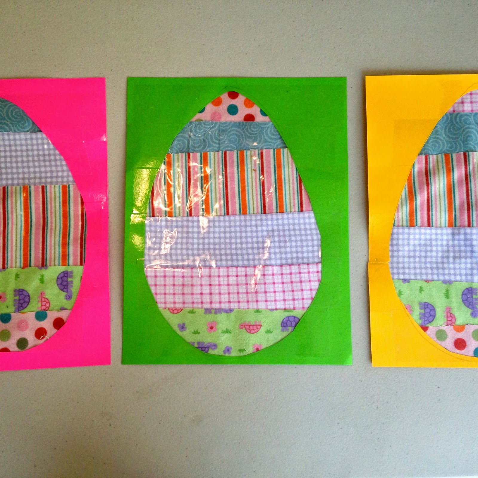 easter egg no sew preschool craft for e day