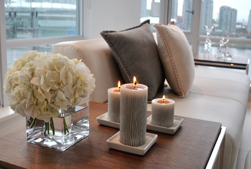Woonkamer Natuurtinten : Living Room Decor Candles