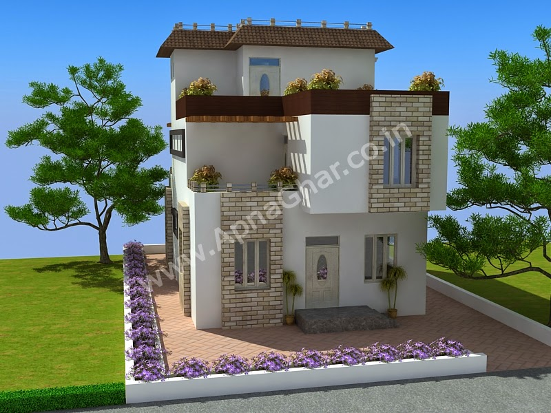 Completed Modern Triplex House Plan 228m2 12m X 19m sq