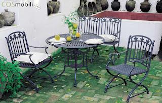 Dise o e interiorismo con forja dise o m laga muebles for Muebles de jardin malaga