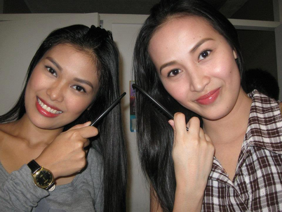 Althea Altamirano (left) with her late best friend Julie Ann